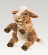 Folkmanis High Quality Comfortable Puppets Pretend Animal Puppets (Brown Cow)