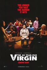 THE 40 YEAR OLD VIRGIN MOVIE POSTER 2 Sided ORIGINAL Ver C 27x40 STEVE CARELL