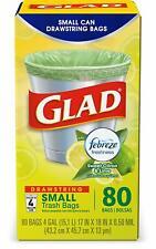 Glad OdorShield Small Drawstring Trash Bags - Febreze Sweet Citron & Lime- 4 Gal