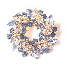 Fashion Rhinestone Crystal&Flower Pins Wedding Bridal Bouquet Brooch Pins Hot