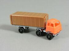 AUTOMOBILI: Camion semirimorchio 1 Serie con cassettiera grande orange/marrone
