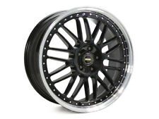 "20"" Simmons OM-1 STAGGERED BLACK WHEELS & TYRES HOLDEN COMMODORE STATSMAN BMW"