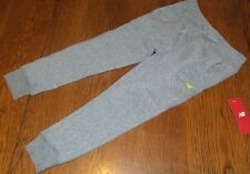 Girls XS 4/5 Grey Heather Tri-Blend Ankle Jogger New Balance nwt Bow