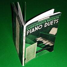 1935 PIANO DUETS Song Book: Ave Maria, Largo, Two Guitars, Romance, Irish Melody