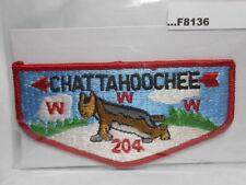 CHATTAHOOCHEE LODGE 204 RED BORDER VINTAGE LARGER FLAP F8136