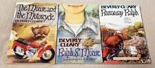 THE  MOUSE AND THE MOTORCYCLE Trilogy 3 Book Set Runaway RALPH S. Beverly Cleary