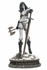 Women of Dynamite Red Sonja Statue Black and White Diamond Eye Edition Statue