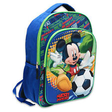 """Backpack 16"""" Pop Out 3D Disney Mickey Kicking Soccer Ball Blue New"""
