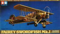 Tamiya 1:48 Fairey Swordfish Mk.I Plastic Aircraft Model Kit #61068