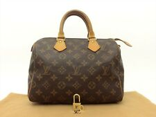 Louis Vuitton Authentic Monogram Speedy 25 Hand Bag Purse Auth LV