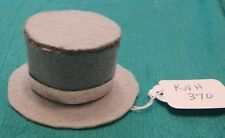 Gray Felt Top Hat w Silver Prismatic Fireworks Band Ken Barbie Doll Knh370