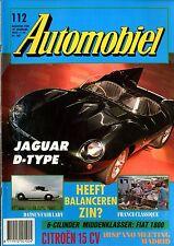 1989 HET AUTOMOBIEL MAGAZIN 112 JAGUAR D TYPE DATSUN FAIR LADY FIAT 1800 HISPANO