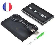 BOITIER DISQUE DUR EXTERNE SATA 2.5'' USB 2.0 SUPPORT DD Boîtier + Cable+ Housse