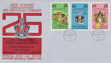 NEW HEBRIDES ENGLISH 1977 SILVER JUBILEE OFFICIAL FIRST DAY COVER FDI CANCEL (a)
