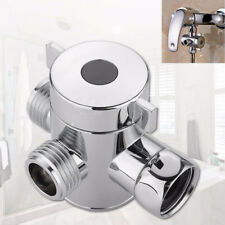 Universal Three Way T-adapter Valve For Toilet Bidet Shower Head Diverter Valve