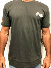 Royal Enfield Motorcycle 100% Cotton T-Shirt Gray Interceptor 650 Twin