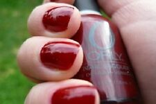 NEW! ORLY nail polish lacquer BUS STOP CRIMSON ~ Warm Red ~ full size