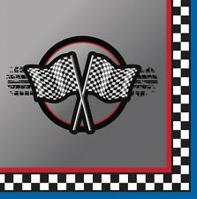 RACING CAR CHEQUERED FLAG FORMULA ONE PARTY NAPKINS BIRTHDAY PARTIES!