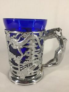 Vintage Far Eastern Design Tankard With Naked Lady Handle (ref B908)
