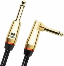 Monster Rock Prolink Electric Guitar Cable 21ft straight to right angle Gold End