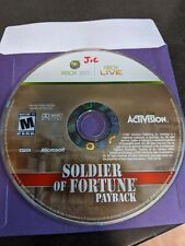 Soldier of Fortune: Payback (Microsoft Xbox 360 2007) POLISHED DISC ONLY  FREE S