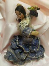 VINTAGE 50s 60s Layna Cloth Flamenco Dancer Girl Doll With Castanets Spain