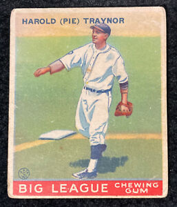 Harold Pie Traynor 1933 Goudey #22 G-VG HOF