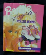Vintage 1991 Barbie for girls Roller Skates Brookfield used in box size 11