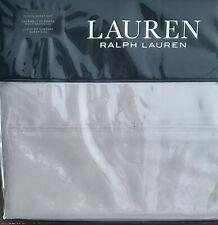Ralph Lauren Dove Gray Queen Dunham Cotton Sateen Sheet Set 4 pc