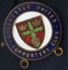 Colchester United FC Supporters Club enamel lapel badge