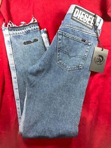 "BNWT DIESEL Gents Mharky Slim, Skinny Blue Jeans. Slightly Cropped.W 28"" Leg 29"""