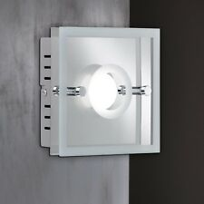 WOFI LED Applique murale Mira 1-FLG nickel Interrupteur Verre Carré 4 watt 300