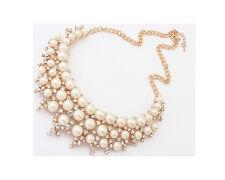 Glitz Fashion  Faux Pearl Statement Necklace- Bridal Jewelry for Women