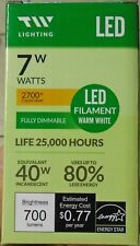 One Dozen (12) NEW TW Lighting  7W LED light bulbs (equal to 40W incandescant)