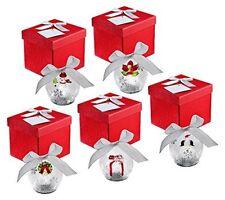 QVC Kringle Express Set of 5 Illuminated Glass Ornaments Christmas Icons Gift
