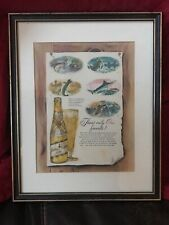 Miller High Life • Vintage Framed Poster - There Is Only One Favorite - Fishing