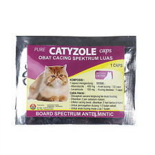 CATYZOLE Board Spectrum Antelmintic, Anti Worm for Cats Fast Effective 1 Caps