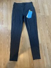 Skechers Go Walk High Waisted Black/Grey Leggings. Size S. Free Post