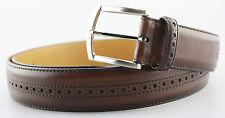 Men's MAGNANNI 'Guodi' Mid-Brown Leather Belt - Size 42