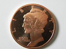 5 - 1 AVDP oz. 999 Fine Copper Rounds - Mercury Head - BU - Mix or Match Designs