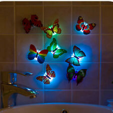 Change Colors Stick-on Butterfly Wall Xmas Decor LED Night Light Christmas WZC