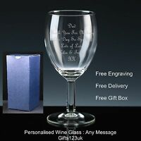 Personalised 11oz Wine Glass, Father of the Groom Gift, Wedding Gift / Favour