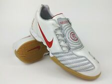 Nike Mens Rare Total90 Shoot ll IC 318884-161 White Red Indoor Shoes Size 7