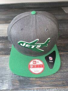 Men's New Era New York Jets 9/Fifty 1963 Retro Logo Snapback Football Hat NWT
