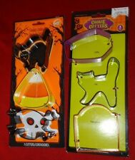 Halloween metal Cookie Cutters set of 6 NEW (3 are Wilton)