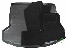 HYUNDAI i30 CW 5 DR ESTATE 2012-16 Tailored black floor car mats + boot tray mat