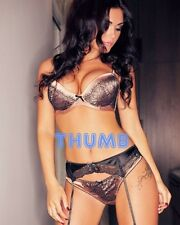 India Reynolds - 10x8 inch Photograph #007 in Lingerie & Suspenders