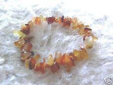 Cornalina Ojo De Tigre Cristal curativo Chip Pulsera de abalorios Reiki Meditación