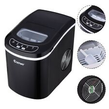 Black Automatic Electric Ice Cube Maker Machine Counter Top Cocktails Drink 2.2L