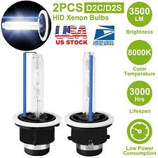 2x D2S 35W 8000K HID Xenon Bluish Replacement Low/High Beam Headlight Bulbs NEW